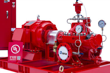NFPA20 Standard Diesel Engine Driven Fire Pump 415 Feet With Air / Water Cooling System