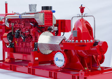 Single Stage End Suction Fire Pump 250GPM @ 125PSI Dengan Drive Mesin Diesel