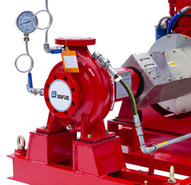 NFPA20 Standard End Suction Fire Pump 250GPM @ 100PSI Ductile Cast Iron Casing